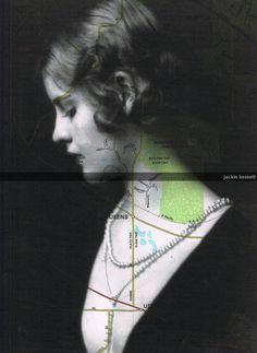Jackie Bassett. Map Prints, Repurposed Book Pages,  Beautiful, cross,  Woman Vintage Photo, Paper Ephemera.home decor, affordable art. $8.50, via Etsy.