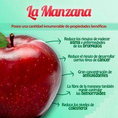 Sabias que, consumir 5 manzanas o más ayuda a mejorar tu capacidad pulmonar? Descubre los beneficios de esta fruta en... http://www.1001consejos.com/propiedades-de-la-manzana/