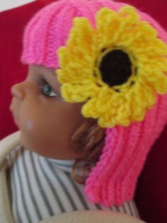 Precious baby girl Hat Wig 03 plus month Ready to by Ritaknitsall, $20.00