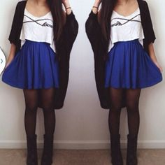 trendy ideas fashion style for teens winter outfits schools skater skirts Skater Skirt Outfit, Skirt Outfits, Skater Skirts, Tulip Skirt, Teen Fashion, Fashion Outfits, Womens Fashion, Daily Fashion, Dresses