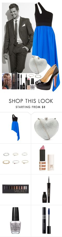 """""""First date with James"""" by crazydirectionergirl ❤ liked on Polyvore featuring Mason by Michelle Mason, Ruby Prom, River Island, Topshop, Forever 21, Napoleon Perdis, OPI, Christian Louboutin, bigtimerush and jamesmaslow"""