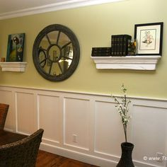 Shadow Box Molding In Dining Room