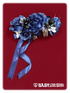 AATP Funeral Rose Comb - 2 hair combs, ribbon, assorted flowers