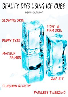 Rub an ice cube over your face each night to minimize pores and prevent acne and wrinkles #lifehack #beautytip
