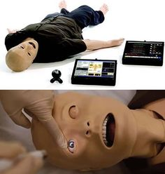 The SimMan 3G Patient Simulator can cry, bleed, convulse, go into  cardiac arrest, and have all sorts of medical conditions.