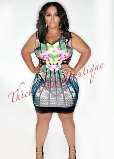 Sublimation Printed Dress | Thick Chic Boutique