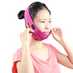 2015Health Care Jaw Pulling Facial Masseter Thin Face Mask Women Wrinkle V Face Chin Cheek Lift Up Ultra-thin Slimming Belt Band