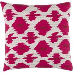 "Wade Logan Marquez Kantha Throw Pillow Size: 18"" H x 18"" W x 4"" D, Color: Burgundy/Navy/Olive/Ivory"