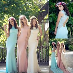 Long Bridesmaid Dresses, Colorful Bridesmaid Dresses, Wedding Guest