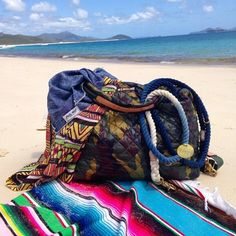Wish we were in this beach scene with the MZ Wallace Camo Metro Tote shared by @shop_dog_and_co!