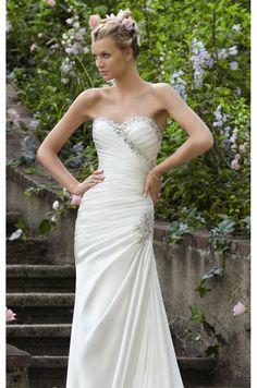 #dress #gown #wedding #weddingdress #white www.findress.com    Crystal Beading On Soft Satin