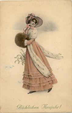 Vintage Christmas Card: vienne