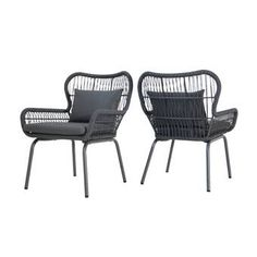 Allow these beachy club chairs to cradle you and a loved 1 all afternoon long. Boho and easy-going, their iron frames are complemented by the raw texture of woven rope and cushioned with weather-resistant pillows. They're the ultimate stay-c Pool Furniture, Simple Furniture, Outdoor Furniture, Furniture Deals, Pallet Furniture, Painting Furniture, Modern Furniture, Patio Chairs, Outdoor Chairs