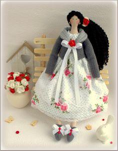 Tilda Doll Luisa fabric doll-Cloth doll rag by MyShopDolls on Etsy ☆