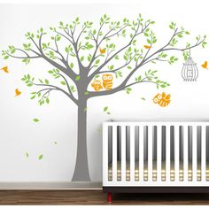 Found it at Wayfair - Nursery Tree with Cute Owls Wall Decal