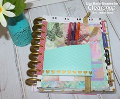Boho Planner Pocket Insert is fun to make using Teresa Collins inks by Clearsnap & her embossing folders by Craftwell. See the full tutorial on the blog.
