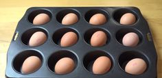 Hack for hard boiled eggs.