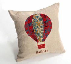Balloon Vintage Car Seat Pillow Covers ,Car Seat, Linen Cushion Covers