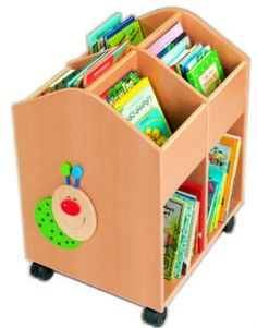 HABA Rolling Library Large Book Storage Chest