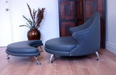 Havana Retro Lounge Chair and Ottoman Mid by lunarloungedesign