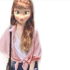 Image about anna in The Girls oF Disney by Disney Characters Dress Up, Modern Disney Characters, Punk Disney Princesses, Disney Princess Fashion, Disney Style, Jelsa, Disney Actual, Princesse Disney Swag, Modern Day Disney