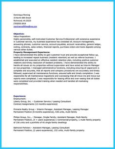 Cool Writing A Great Assistant Property Manager Resume,  Commercial Property Manager Resume