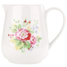 This pretty little milk jug is great for tea parties and breakfast time too. Part of our lovely Spray Flowers china range with many matching items available, including tea cups and cereal bowls.