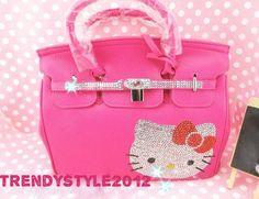 Hello Kitty Czech Crystal Diamond Handle Bag Shopping Bag Best Gift Idea   eBay