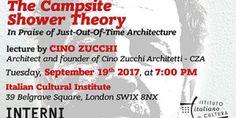The Campsite Shower Theory. Lecture di Cino Zucchi www. Milano Design Week .org