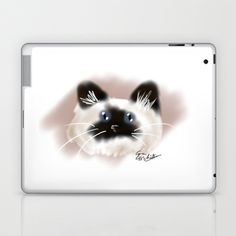 www.society6.com/emmabird8   Crazy Siamese Laptop & iPad Skin by EmmaBird Designs - $25.00  also available in Framed Prints, iPhone Cases & Skins, Art Prints, Laptop Skins, Throw Pillows, Greeting Cards, and Totebags!