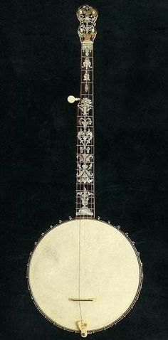 """A custom or ""presentation-grade"" A.C. Fairbanks ""Electric"" banjo, perhaps the finest of all 19th-century factory-made banjos. Fairbanks made only a few of ..."