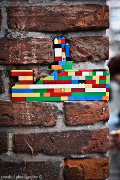 I am going to do this with the boys and their lego when they get to old for it. Street Art Banksy, Murals Street Art, Street Art Graffiti, Mural Art, Pablo Picasso, Lego Wall, Art Curriculum, Lego House, Ad Art