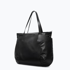 STRUCTURED LEATHER SHOPPER BAG - Bags - MAN | ZARA Germany