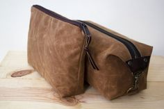 This combo kit of #Doppkit and zipper bag in blush brown is a great set! #DoryDesigns https://www.etsy.com/listing/238558233/mens-dopp-kit-and-zipper-pouch-set?ref=shop_home_active_16