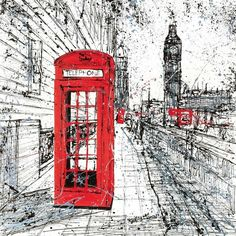 Heart Of London(Landscape) by Paul Kenton - Paintings & fine art pictures available on discounted prices Urban Landscape, Landscape Art, Paul Kenton, A Level Art, Sense Of Place, Gcse Art, Urban Sketching, Living At Home, Built Environment