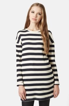 Ribbed Striped Tunic
