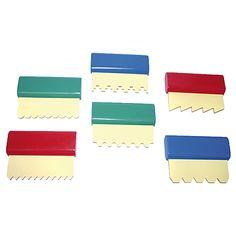 Eduplay, Farbspachteln 6er Set 6 verschiedene Spachtel-Designs | 800042 / EAN:4260081542196