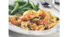 """CHICKEN AND SHRIMP CASSEROLE: ~ From: Crockpot.Com ~ By: """"Slow Cooker Enthusiast"""" ~ Time on High: 3-4 hrs; Time on Low: 6-8 hrs;"""