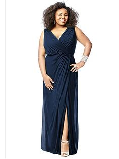 Plus size bridesmaid dress in blue | Bridesmaids | Pinterest