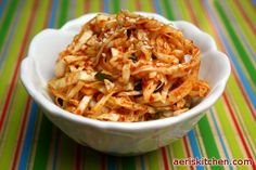 Spicy Shredded Cabbage MuChim - simple healthy delicious Korean side dish