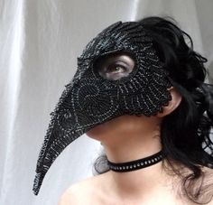 If only I were incredibly rich. Raven masquerade mask, gothic, handmade. $1,000.00, via Etsy.