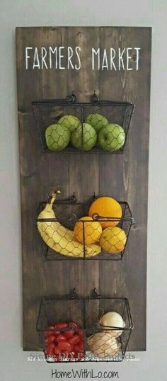 14 fruit and vegetable storage ideas for a clearer kitchen furnishing ideas – home decor diy – diy kitchen decor Rustic Kitchen Decor, Rustic Decor, Rustic Theme, Rustic Kitchens, Country Kitchen, Rustic Wood, Modern Rustic, Country Decor, Country Living
