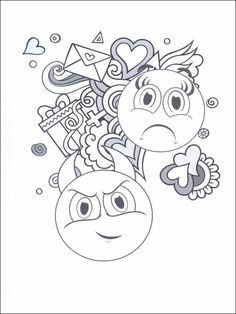 Amazon Emoji Coloring Book Of Funny Stuff Cute Faces And