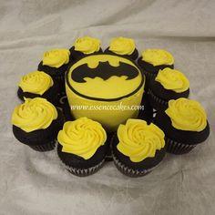 Batman cupcake ideas Batman Birthday Cakes db96086fd194