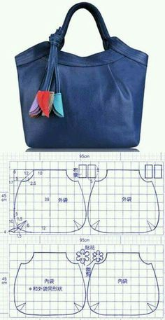48 Ideas For Diy Bag Pattern Leather Inspiration Handbag Patterns, Bag Patterns To Sew, Patchwork Bags, Quilted Bag, Denim Patchwork, Bag Quilt, Diy Handbag, Craft Bags, Denim Bag