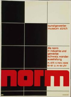 Theo Ballmer (1902-94). In 1928 his poster designs achieved a high degree of formal harmony, as he used an ordered grid to construct visual forms.