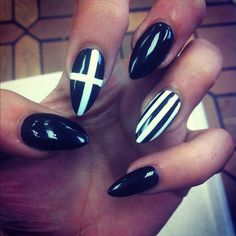 I do not want long pointy nails by any means, just love the designs!