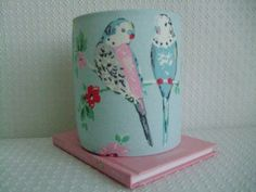 Cath Kidston  sweet Budgies Handmade Night Light by EvieEccles