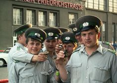 Staatsorgane der DDR in Ost-Berlin Carsten Gehner. Surprisingly these East German police officers joking around agreed in being photographed. German Uniforms, Police Uniforms, Police Officer, German Police, German Army, East Germany, Berlin Germany, Military Photos, Military Art