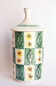 Retro 1950s Arthur Wood  England // Canister with by ultralounge, SOLD $42.00
